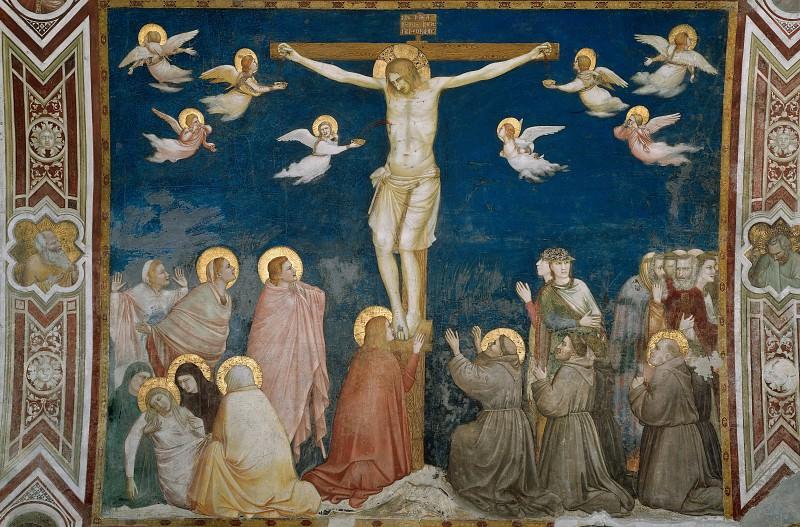 Frescoes of the north transept - The Crucifixion. Giotto di Bondone