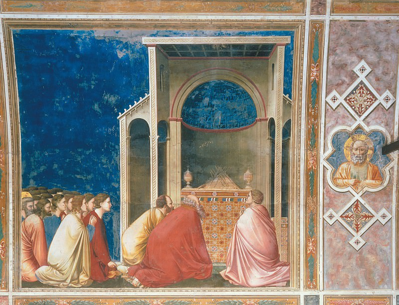 10. The Suitors Praying. Giotto di Bondone