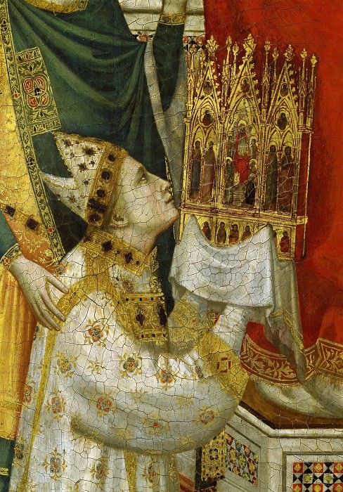 The Stefaneschi Triptych (verso), detail - Pope Celestine V. Giotto di Bondone