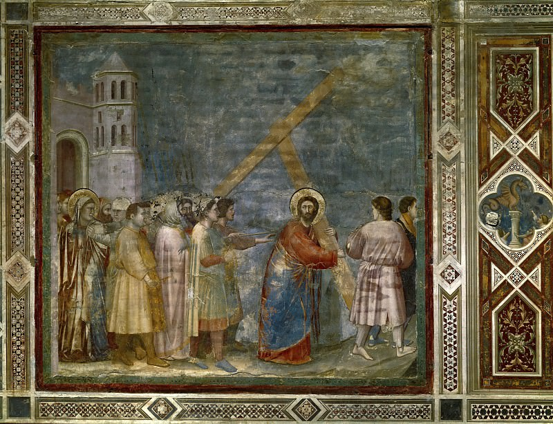 34. Road to Calvary. Giotto di Bondone