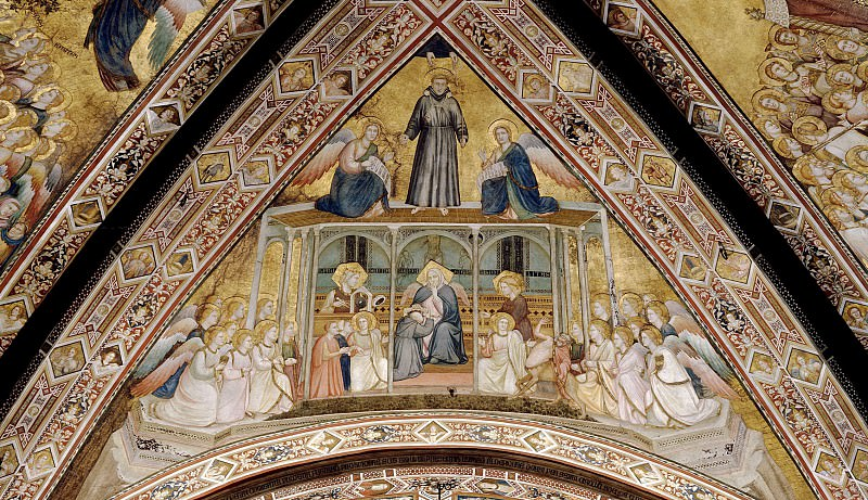 Frescoes in the crossing vault - Allegory of Obedience. Giotto di Bondone