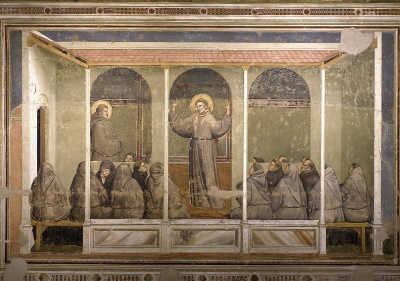 Bardi Chapel: Apparition at Arles. Giotto di Bondone