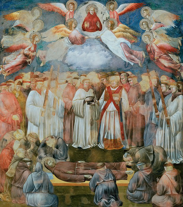 Legend of St Francis 20. Death and Ascension of St Francis. Giotto di Bondone