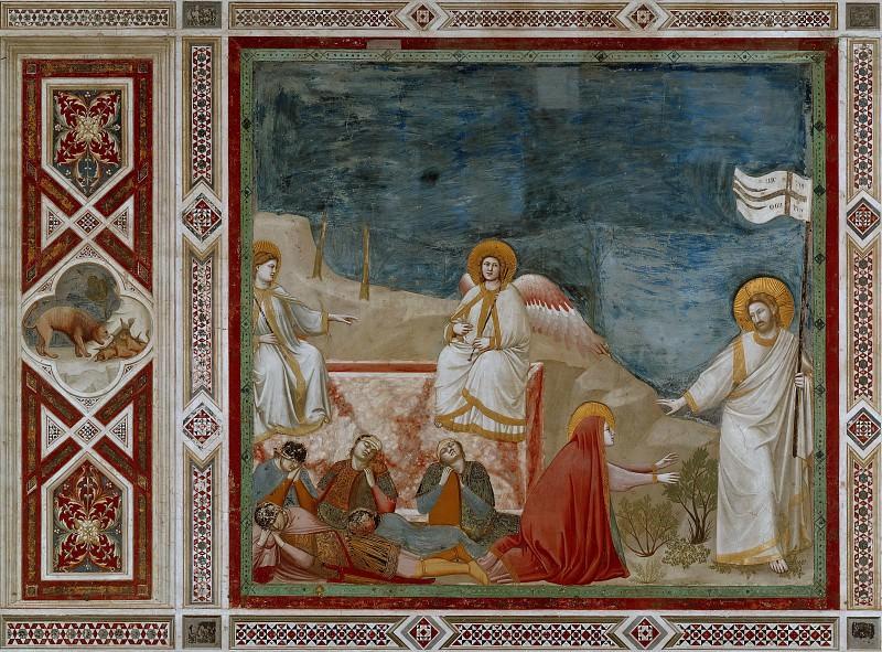 37. Resurrection (Noli me tangere). Giotto di Bondone