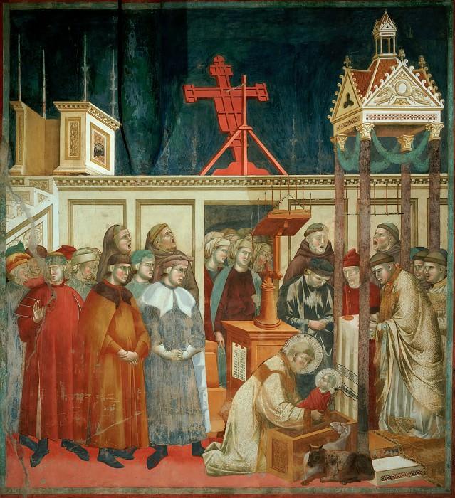 Legend of St Francis 13. Institution of the Crib at Greccio. Giotto di Bondone