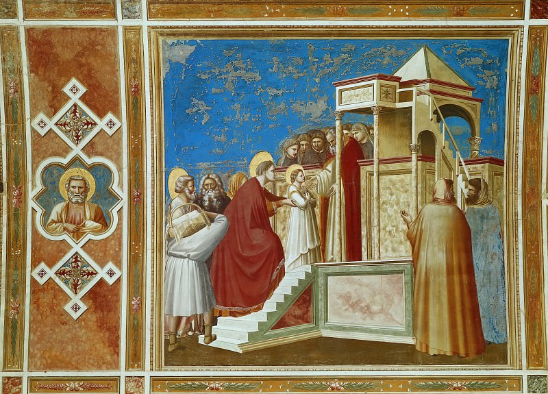 08. Presentation of the Virgin in the Temple. Giotto di Bondone