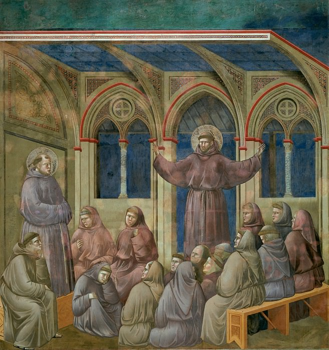 Legend of St Francis 18. Apparition at Arles. Giotto di Bondone