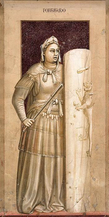 41 The Seven Virtues: Fortitude. Giotto di Bondone
