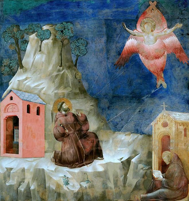 Legend of St Francis 19. Stigmatization of St Francis. Giotto di Bondone