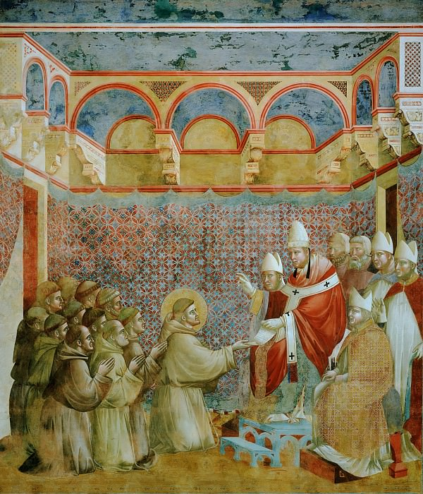 Legend of St Francis 07. Confirmation of the Rule. Giotto di Bondone