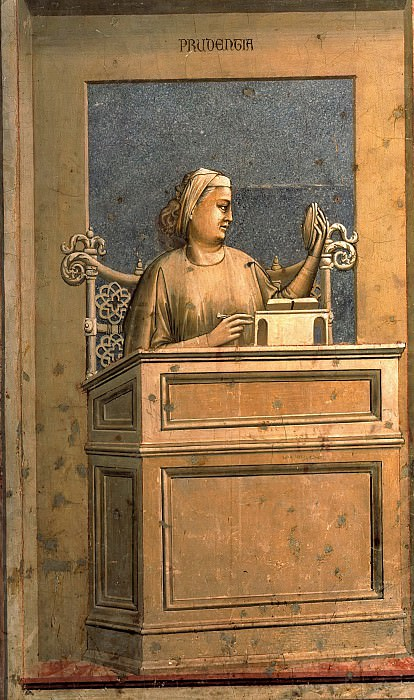 40 The Seven Virtues: Prudence. Giotto di Bondone