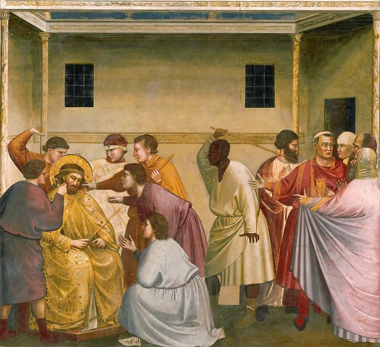 33. Mocking of Christ. Giotto di Bondone