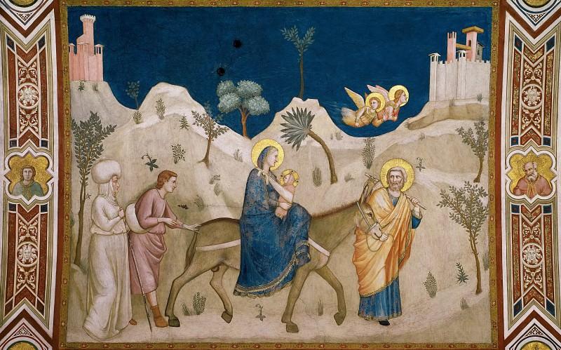 Frescoes of the north transept - The Flight into Egypt. Giotto di Bondone