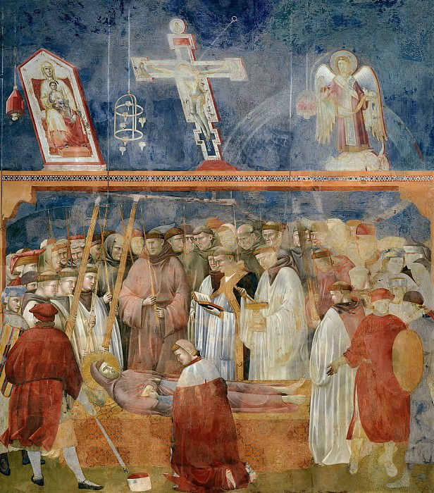 Legend of St Francis 22. Verification of the Stigmata. Giotto di Bondone