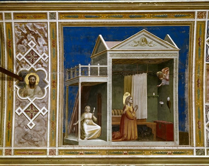 03. Annunciation to St Anne. Giotto di Bondone