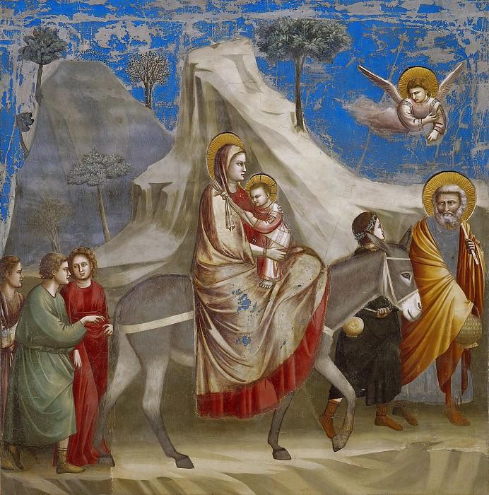 20. Flight into Egypt. Giotto di Bondone