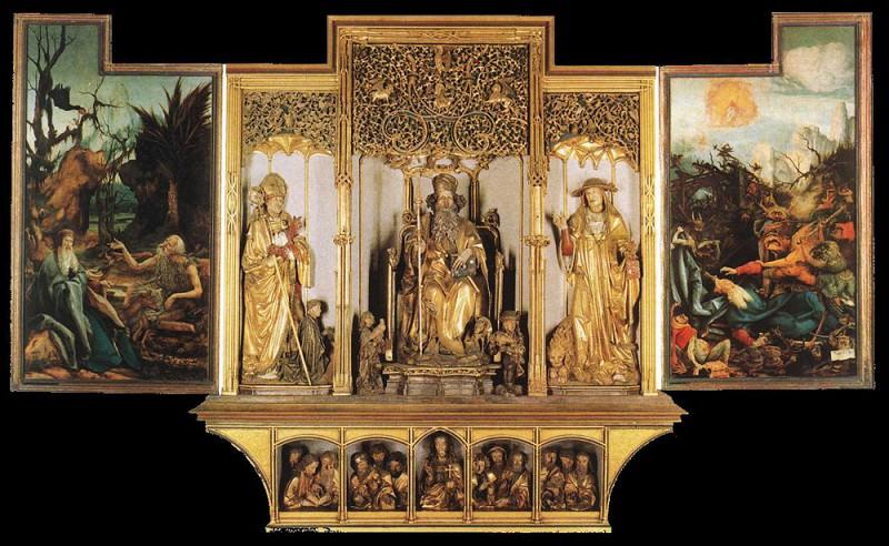 Isenheim Altarpiece third view. Matthias Grunewald