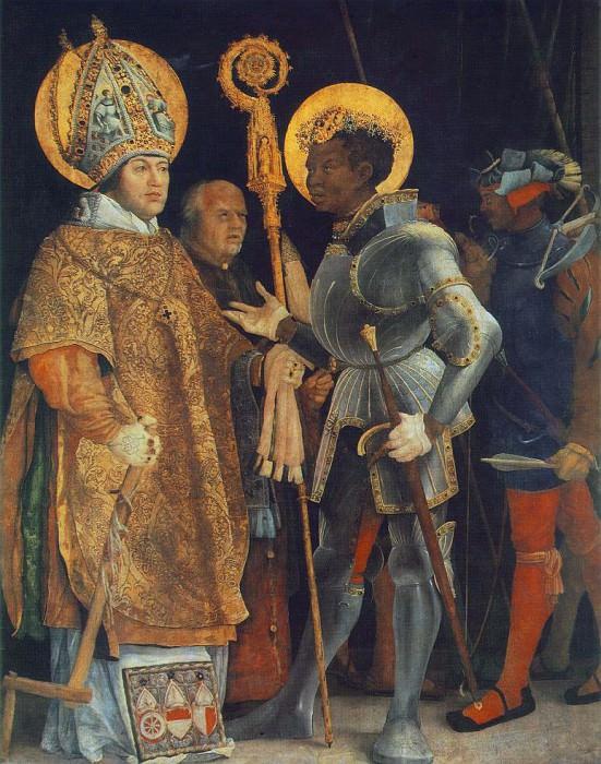 Встреча Св. Эразма и Св. Маврикия. Маттиас Грюневальд