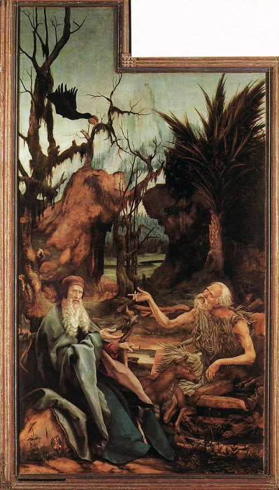 Sts Paul and Antony in the Desert. Matthias Grunewald