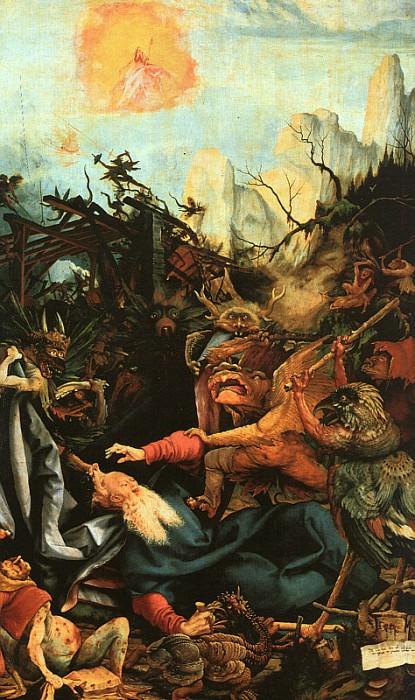 GRUNEWALD Isenheimaltaret St Antonii frestelser Musee dUnte. Matthias Grunewald