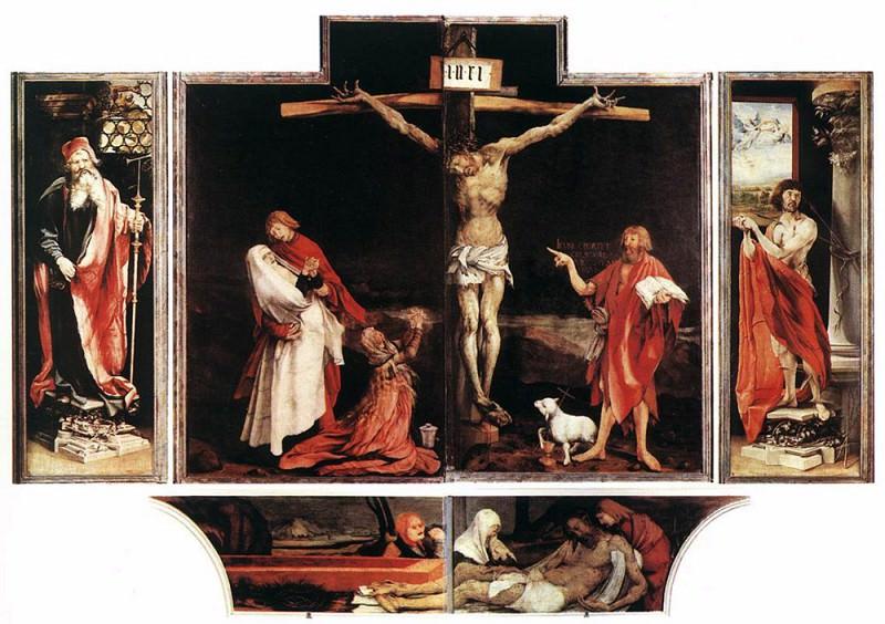 Isenheim Altarpiece first view. Matthias Grunewald