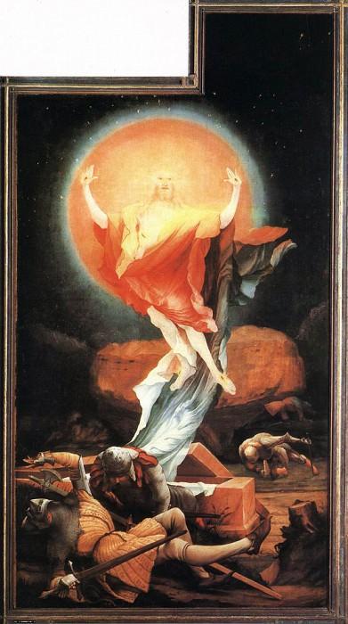 The Resurrection. Matthias Grunewald