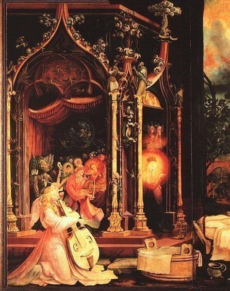 GRUNEWALD Isenheimaltaret Anglakonsert Musee dUnterlinden,C. Matthias Grunewald