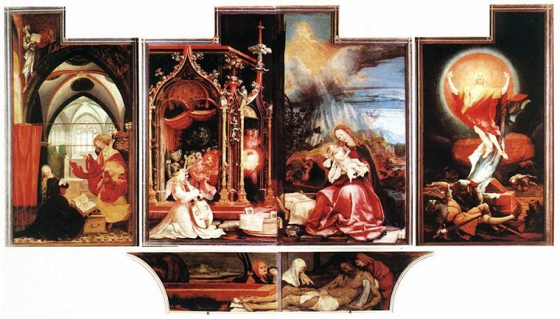 Isenheim Altarpiece second view. Matthias Grunewald