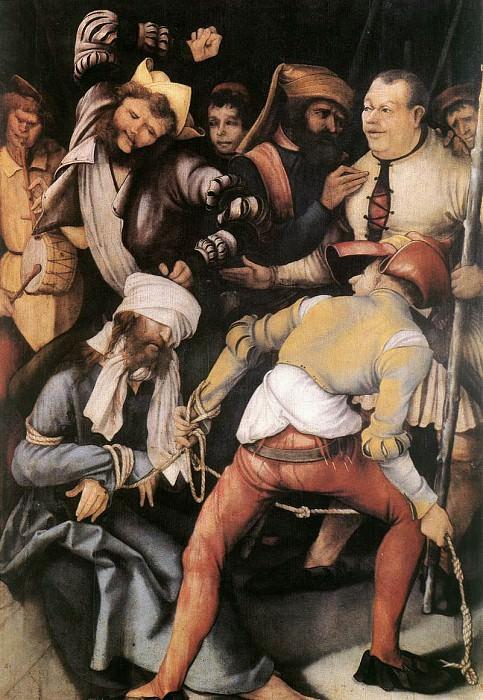 Бичевание Христа. Маттиас Грюневальд