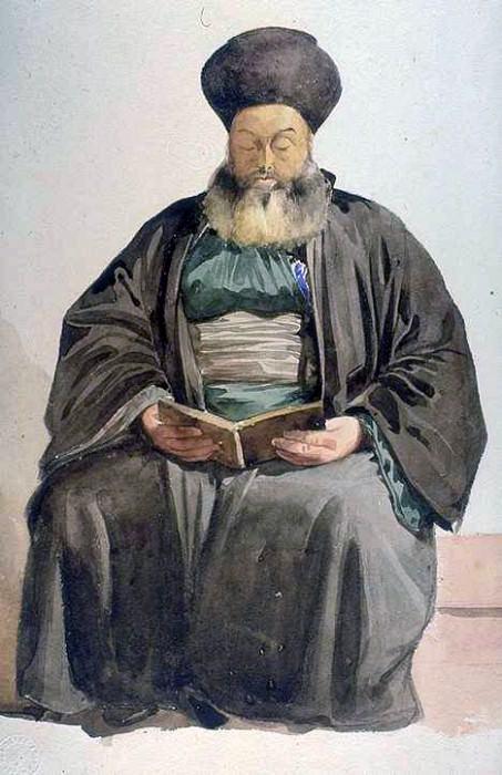 Армянский священник, Смирна. Марк Габриэль Шарль Глейр