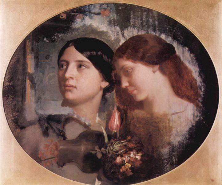 Две женщины с букетом цветов. Марк Габриэль Шарль Глейр