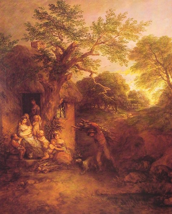 The Woodcutters Return. Thomas Gainsborough