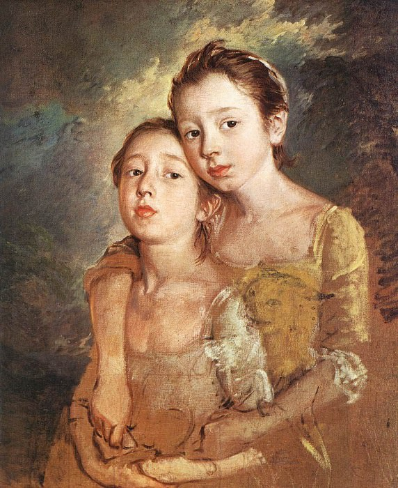 Artists daughters with a cat EUR. Thomas Gainsborough