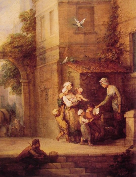 Charity relieving Distress. Thomas Gainsborough