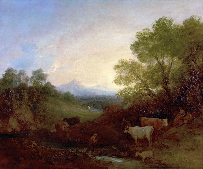 Landscape with Cattle. Thomas Gainsborough