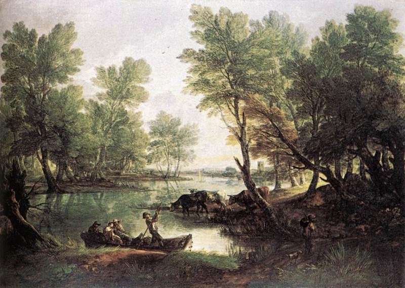 River landscape. Thomas Gainsborough