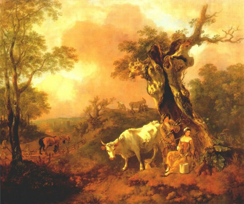gainsborough woodcutter courting a milkmaid 1755. Thomas Gainsborough