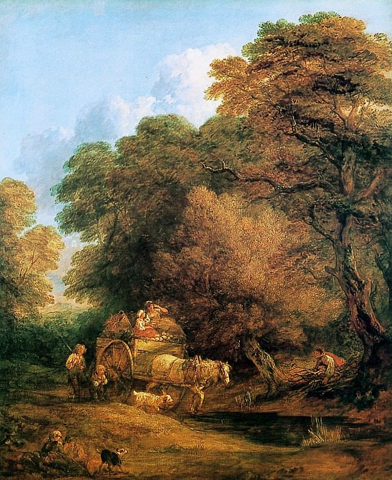 Gainsborough Thomas The market cart 22 Sun. Thomas Gainsborough