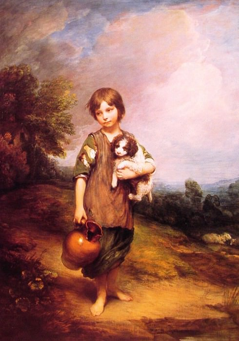 Cottage Girl with dog and Pitcher. Thomas Gainsborough