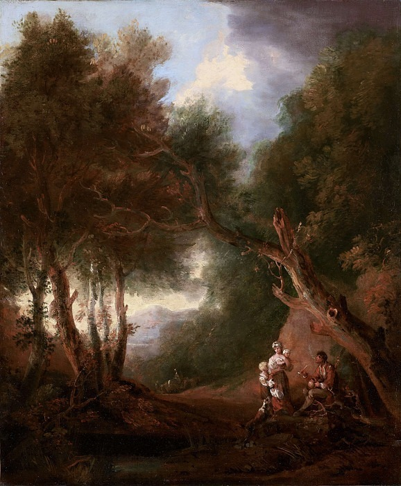 A Wooded Landscape, Autumn Evening. Thomas Gainsborough (After)