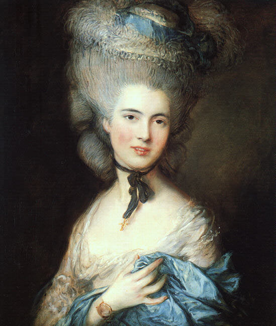 Portrait of a lady in blue EUR. Thomas Gainsborough