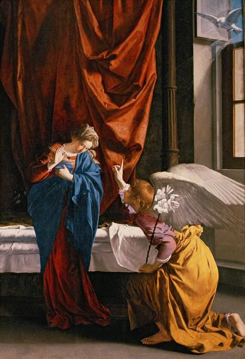 The Annunciation. Orazio Gentileschi