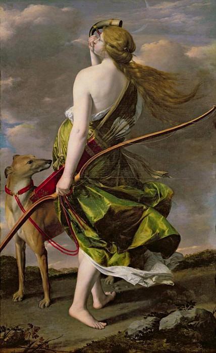 Diana the Hunter. Orazio Gentileschi