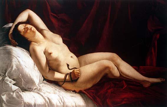 Cleopatra. Orazio Gentileschi