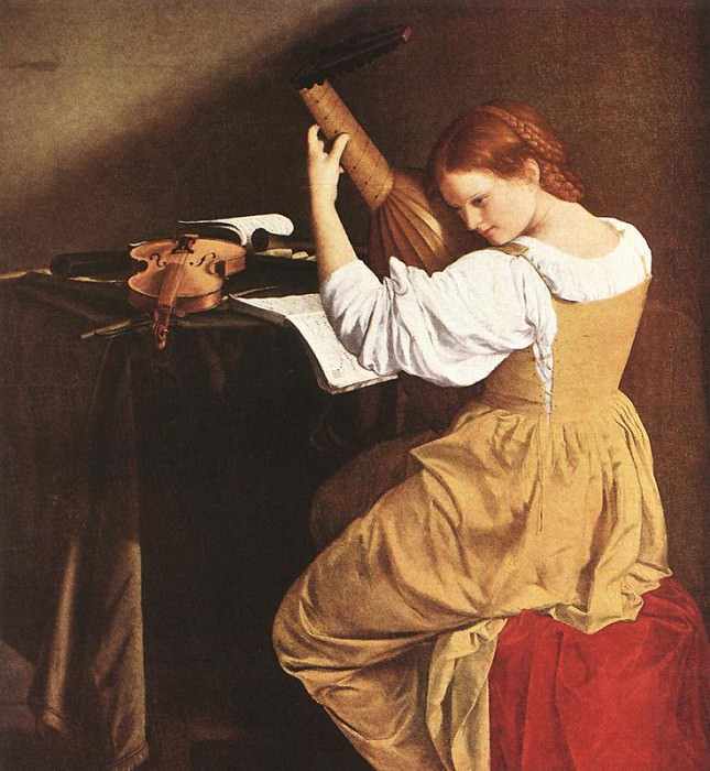 Lute Player. Orazio Gentileschi