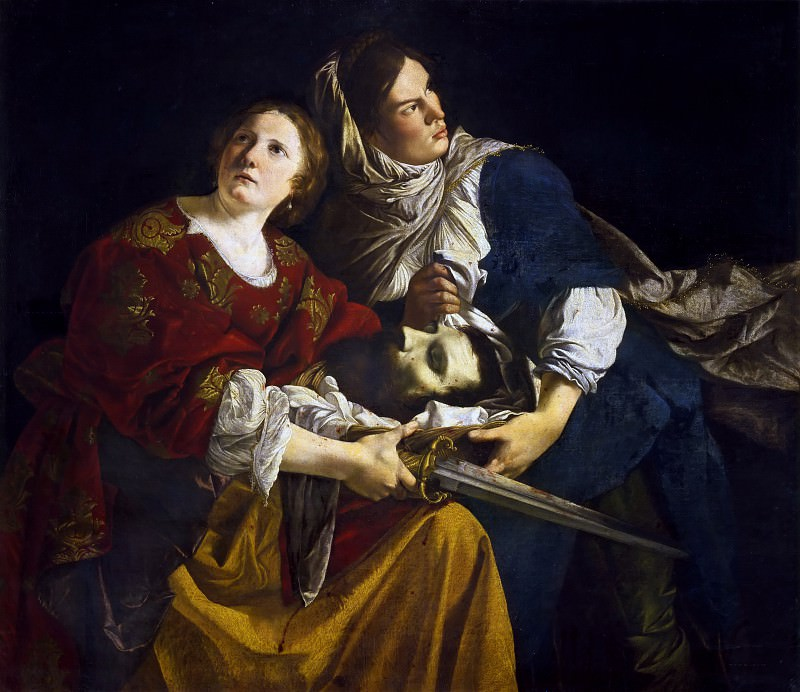 Judith and Her Maidservant with the Head of Holofernes. Orazio Gentileschi