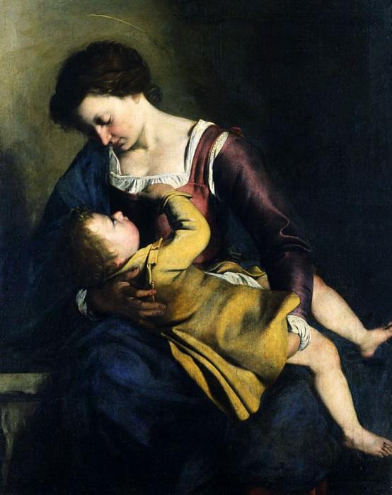 Madonna and Child. Orazio Gentileschi