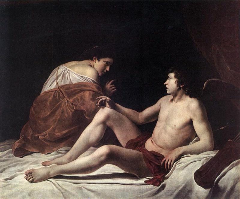 Cupid And Psyche. Orazio Gentileschi