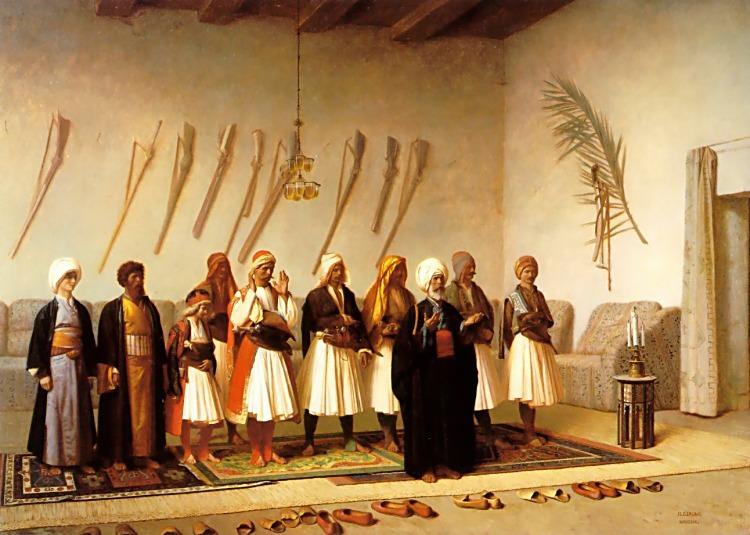 Prayer in the House of an Arnaut Chief. Jean-Léon Gérôme