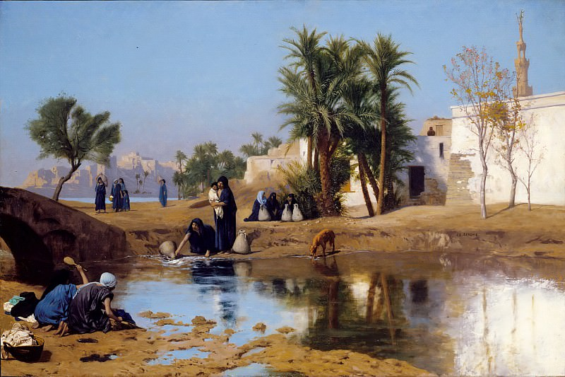 Fellah Women Drawing Water. Jean-Léon Gérôme